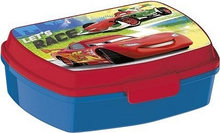 Banquet Box na svačinu CARS modročervený 17 x 12 cm