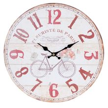 Clayre & Eef Nástěnné hodiny Fleuriste de Paris