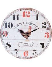Clayre & Eef Nástěnné hodiny La Rotisserie
