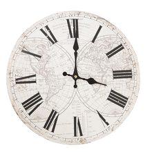 Clayre & Eef Nástěnné hodiny Old Atlas
