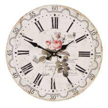 Clayre & Eef Nástěnné hodiny Rose Postale