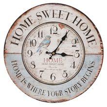 Clayre & Eef Nástěnné hodiny Sweet Home