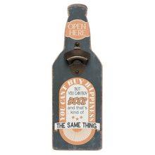 Clayre & Eef Nástěnný otvírák lahví OPEN HERE