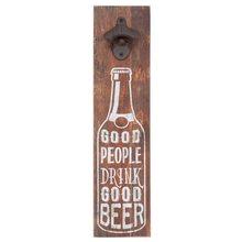 Clayre & Eef Nástěnný otvírák lahví PEOPLEE DRINK BEER