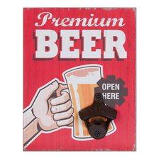Clayre & Eef Nástěnný otvírák lahví PREMIUM BEER