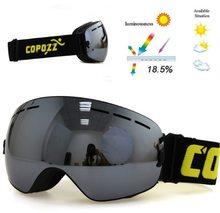 Copozz Lyžařské snowboard brýle s dvojitým sklem Copozz All Black