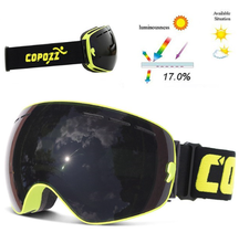 Copozz Lyžařské snowboard brýle s dvojitým sklem Copozz, Black-Yellow