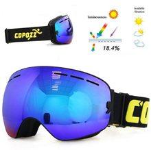 Copozz Lyžařské snowboard brýle s dvojitým sklem Copozz Dark Blue