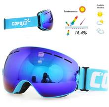 Copozz Lyžařské snowboard brýle s dvojitým sklem Copozz Light Blue All
