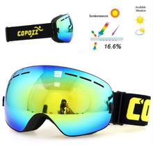 Copozz Lyžařské snowboard brýle s dvojitým sklem Copozz, light blue