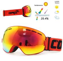 Copozz Lyžařské snowboard brýle s dvojitým sklem Copozz Orange, Dark Glass