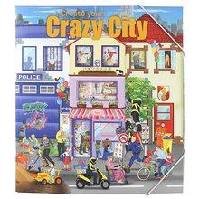 Create Your Omalovánky, kreativní sada Create Your Crazy City se samolepkami a malováním