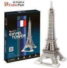 Cubic Fun 3D puzzle Eiffelova věž stříbrná 33 dílků
