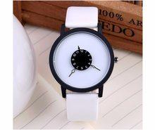 Duoya Designové hodinky BGG White/White