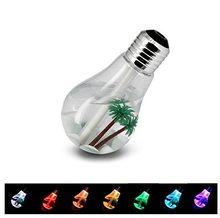 Fan Zvlhčovač USB ve tvaru žárovky stříbrná
