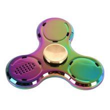 Fidget Spinner Fidget spinner s LED + Bluetooth Music Rainbow