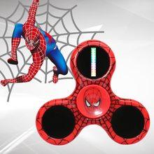 Fidget Spinner Fidget spinner s LED Laser efekty Spider Man