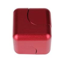 Fidget Spinner Kovový Fidget Spinner Cube červená