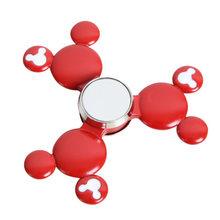 Fidget Spinner Kovový Fidget Spinner Mickey Mouse červený