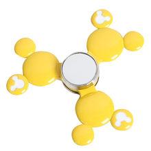 Fidget Spinner Kovový Fidget Spinner Mickey Mouse žlutý