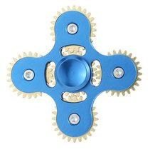 Fidget Spinner Kovový Fidget Spinner ozubená kola 5 kříž modrá