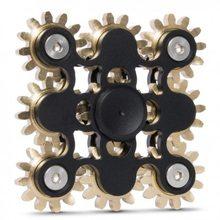 Fidget Spinner Kovový Fidget Spinner ozubená kola 9 černá