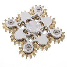 Fidget Spinner Kovový Fidget Spinner ozubená kola 9 stříbrná