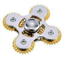 Fidget Spinner Kovový Fidget Spinner ozubené kola 5 kříž stříbrný