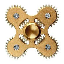 Fidget Spinner Kovový Fidget Spinner ozubené kola 5 kříž zlatý
