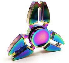 Fidget Spinner Kovový Fidget Spinner Shuriken Rainbow