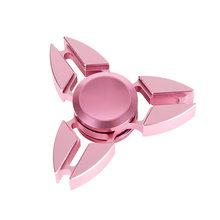 Fidget Spinner Kovový Fidget Spinner Shuriken růžový