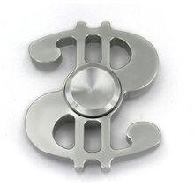 Fidget Spinner Kovový Fidget Spinner US Dolar stříbrný