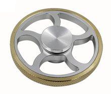 Fidget Spinner  Kovový Fidget Spinner wheel stříbrný se zlatým