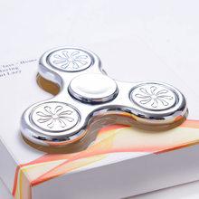 Fidget Spinner Lesklý Fidget Spinner Delux střibrný