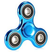 Fidget Spinner Lesklý klasický Fidget Spinner modrý s černým