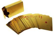 Fun Kids Zlaté hrací karty Dubai Plastové 54ks
