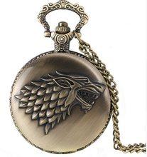 Game of Thrones Hodinky na krk Hra o trůny Stark Mosaz