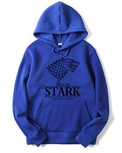 Game of Thrones Mikina House STARK s kapucou modrá