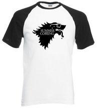 Game of Thrones Pánské Tričko Hra o Trůny Stark černo-bílá
