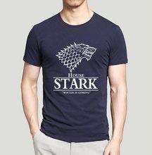 Game of Thrones Pánské tričko Hra o Trůny Stark Tmavě modrá