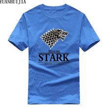Game of Thrones Pánské triko Game of Thrones Stark modré