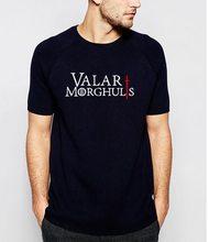 Game of Thrones Pánské triko Hra o Trůny Valar Morghulis Černá