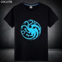 Game of Thrones Pánské triko s luminiscenčním nápisem Hra o trůny Targaryen