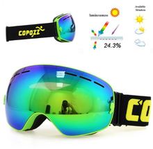 GENERAL Lyžařské snowboard brýle s dvojitým sklem Copozz, blue-green