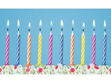 Happy Birthday Narozeninové svíčky 6cm 48ks