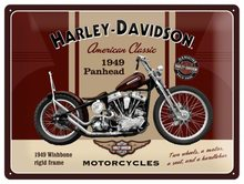 Harley Davidson Plechová cedule Harley Davidson 1949