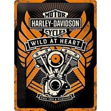 Harley Davidson Plechová cedule - Harley Davidson Wild at Heart