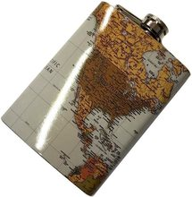 High Life Likérka 8 oz Mapa světa