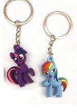 High Life Přívěsek na klíče Pony I LOVE YOU 3D modrý / fialový
