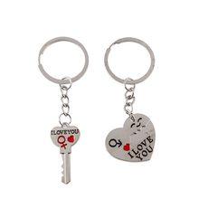 High Life Přívěsek na klíče pro dva Klíč a srdce
